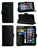 xiaomi red rice note - MobiBax For Xiaomi Red Rice Note 4X - Black Textured Carbon Fibre Effect Professional Style Luxury Wallet Flip Skin Case Cover