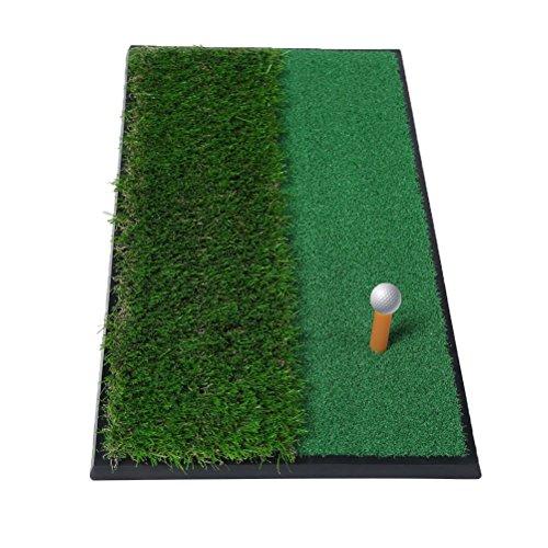 "Odowalker Golf Putting Mat 12""x24"" Fairway/Rough Practice Mat Outdoor/Indoor Training Equipment Aid Golf Practice Mat with Rubber Tee Holder"