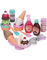 Play Circle by Battat – Sweet Treats Ice Cream Parlour – 21-piece Pretend Ice Cream Set for Kids – Pretend Play Food Sets for Toddlers Age 3 Years and Up,Basic Pack,Multicolor