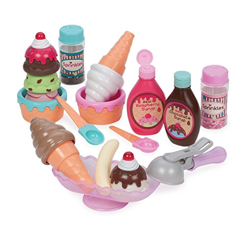 Play Circle Ice Cream Set Pretend Play Food for Kids (21 pieces) Pretend Play