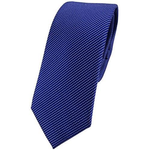 3466f1e779 Barato estrecho TigerTie diseñador corbata de seda - royal azul plata rayas