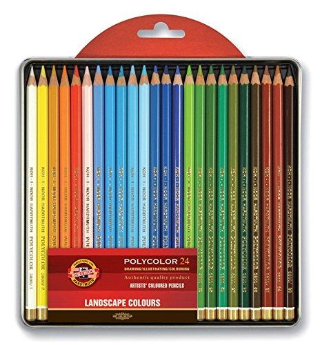 (Koh-i-noor Polycolor 24 Artists' Coloured Pencils 3824/15 Landscape )