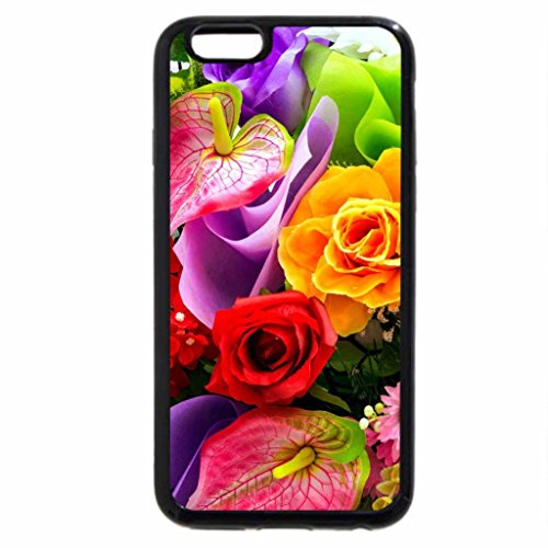 iPhone 6S / iPhone 6 Case (Black) Colorful bouquet
