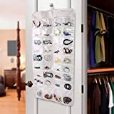IDS Hanging Jewelry Organizer, Dual-Sided Ultra 72 Pocket Organizer For Holding Jewelries