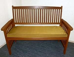 Resistente al agua Zippy banco de muebles de jardín cojín–3asiento–Nuez moscada y marrón