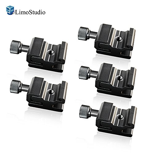 LimoStudio 5Pcs Hot Shoe Flash to Bracket/Stand Mount Adapter Trigger with 1/4 Female Thread, AGG1624