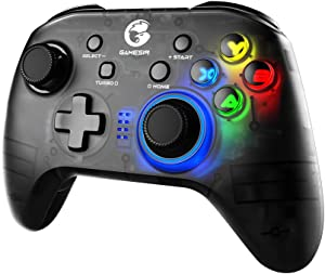 GameSir T4 Pro Wireless Bluetooth Controller for Nintendo Switch, PC Controller with LED Backlight, Turbo Gamepad Joystick with Dual Motor, Programmable Game Controller for iPhone/Android/PC