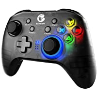 GameSir T4 Pro Wireless Bluetooth Controller for Nintendo Switch, Switch Pro Controller with LED Backlight, Turbo…