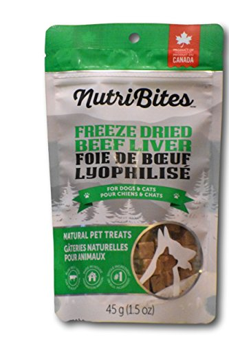 Nutri Bites Freeze Dried Beef Liver- For Dogs & ()