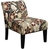 Trendsetter Red Armless Slipper Accent Chair
