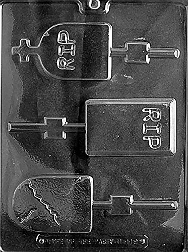 (Headstones Lollipop Chocolate Mold - H119 - Includes Melting & Chocolate Molding Instructions)