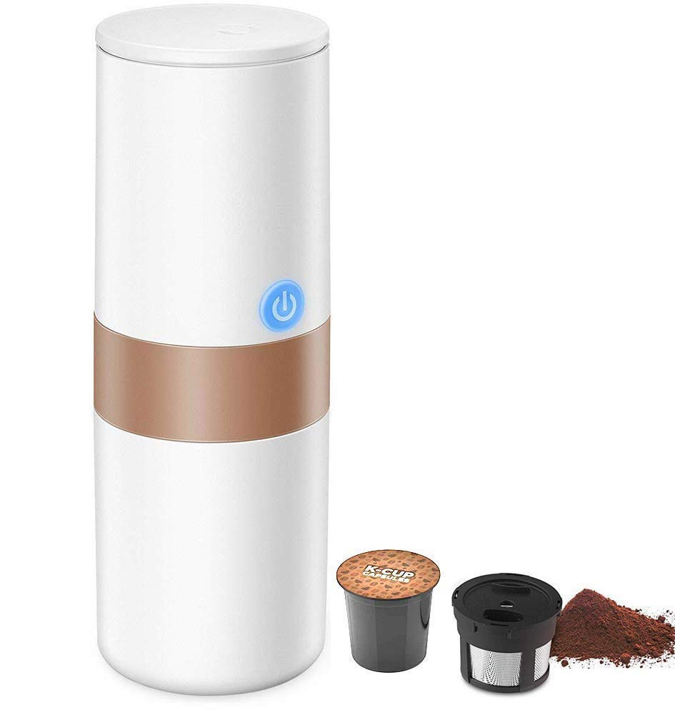 Portable Espresso Coffee Maker, 2 in 1 Coffee Machine for for Most Single Cup Pods including K-Cup Pods, With Reusable K Cup Filter, Rechargeable Battery, Perfect for Camping, Travel by HWZGXWL