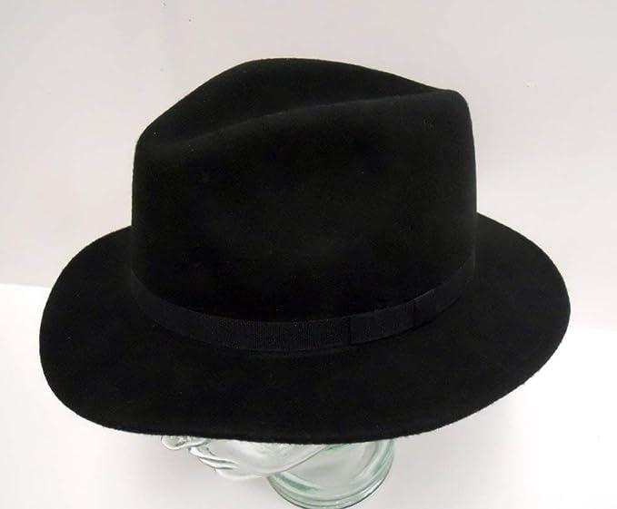 Mens Black Fedora Mens Black Hat Black Felt Fedora Mens Accessories