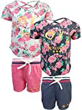Real Love Girl's 4-Piece French Terry Short Sets, Love Forever, Size 3T'