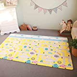 Baby Play Mat Cushion Stylish Floor Foam Mat For Children, Soft Gym Kids Play Mat, Waterproof, Easy to Clean, Soft and Thick, Non Toxic, BPA-Free, Reversible (Car and Sea life, Large)