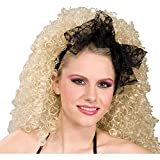 Forum Novelties Women's 80's Lace Novelty Hair Scarf, Black, One Size