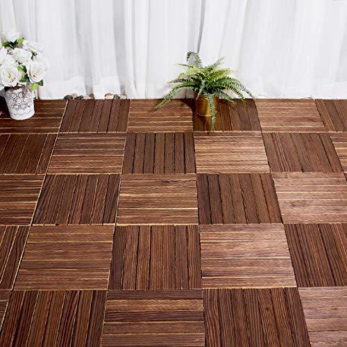 1pc 300x300x22mm piso de madera anticorrosión exterior, baño interior/exterior, ducha y alfombra de piso antideslizante de...