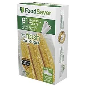 FoodSaver FSFSBF0526-P00 8-Inch Roll Two-pack, 20 Feet Long