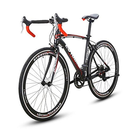 VTSP XC790 ロードバイク 自転車 700C ロードバイク シマノ 14段変速 アルミフレーム ディスクブレーキ サイクリング プレゼント 通勤 通学 B076FQKWS8赤