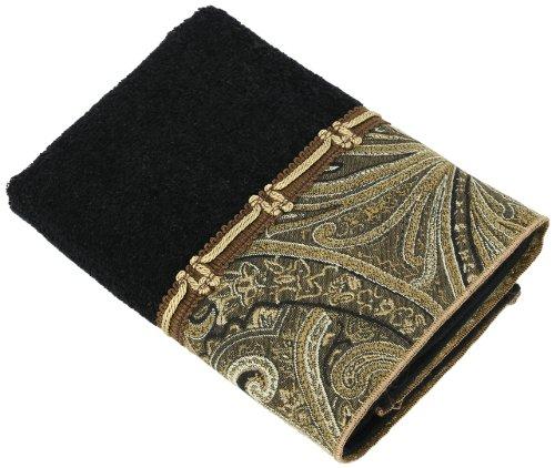 Avanti Linens Bradford Hand Towel, Black