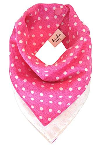 kishu baby Polka Dot Reversible Bandana Bib, Pink, One (Bandannas Clearance Bandannas)