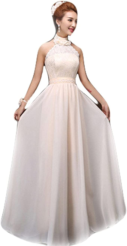 Der Mond Damen Trauzeugin Kleid Lange Festtagkleidung Abendparty