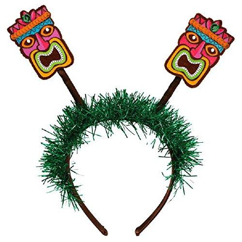 Amscan Summer Tiki Headband Bopper Hawaiian Luau Costume Dress Up Party Headwear, Brown, 10 1/4