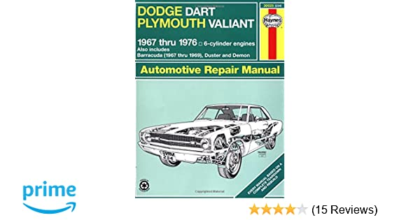 Dodge dart plymouth valiant 6776 haynes repair manuals dodge dart plymouth valiant 6776 haynes repair manuals haynes 9781850102113 amazon books fandeluxe
