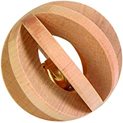 Trixie Wood Slat Ball with Bell, 6cm
