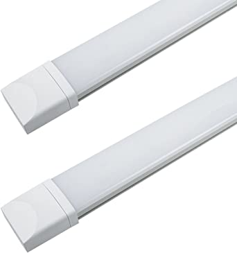 Permet de relier 20 r/églettes maximum en s/érie R/églette LED 625mm J/&C/® Lot de 5 Plafonnier LED 18W Eclairage Etanche IP65 Tube Ext/érieur Int/érieur Lumi/ère Blanc Neutre 4000-4500K 1400LM