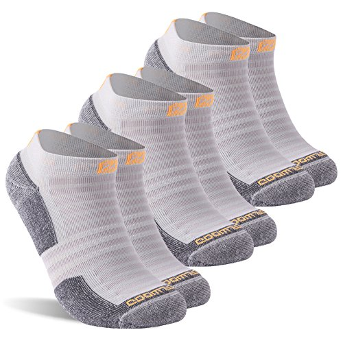 (Running Socks, ZEALWOOD Men and Women's Anti-Blister No Show Running Socks Dri-Tech Athletic Socks Comfort Cycling Socks,Low Cut Athletic Socks,Performance Heel Shield Antibacterial Socks,3)
