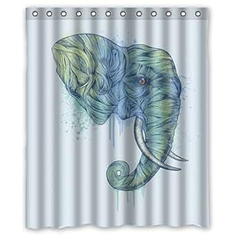 Special design elephant art waterproof for Bathroom art amazon
