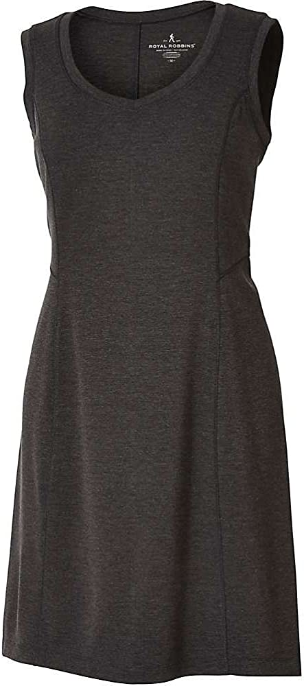 Royal Robbins Women's Metro Melange Shift Dress, Medium, Charcoal