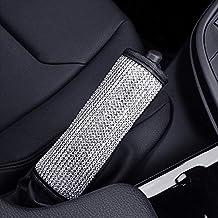 ESKONKE Auto Handbrake Cover for Ms. Aristocracy Center with Bling Matrix Diamond + Simple and Elegant Design + Soft Velvet + Exquisite Leather Edging Car Decor Accessory (Cover for Hand Brake)