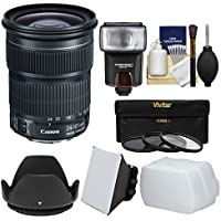 Canon EF 24-105mm f/3.5-5.6 IS STM Zoom Lens with Flash & Soft Box + Diffuser + 3 Filters + Kit for EOS & Rebel DSLR Cameras
