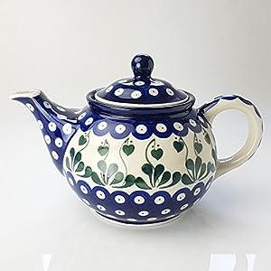 Polish Pottery Medium Teapot – Love Leaf – 3 Cup