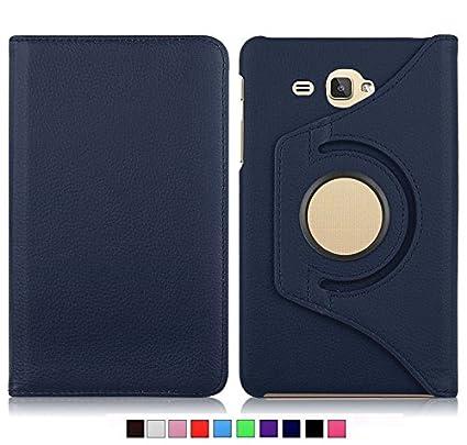 buy online 3cf0a a6a0d MOCA 4397793121 Flip Cover for Samsung Galaxy Tab J Max/Tab 7.0 inch T285  T280 (Deep Blue)