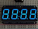 Adafruit 0.56'' 4-Digit 7-Segment Display w/I2C Backpack - Blue [ADA881]