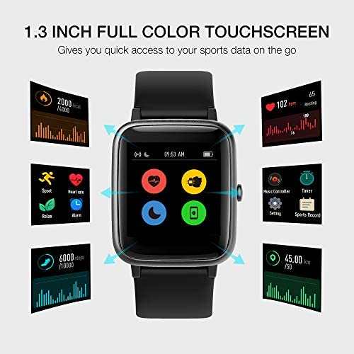 UMIDIGI Smart Watch Uwatch3 Fitness Tracker, Smart Watch for Android Phones, Activity Tracker Smartwatch for Women Men Kids, with Sleep Monitor All-Day Heart Rate 5ATM Waterproof 5