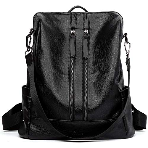 CLUCI Women Backpack Purse Leather Fashion Travel Casual Detachable Ladies Covertible Shoulder Bag