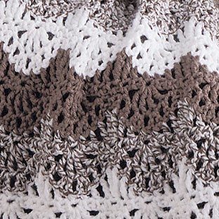 Serenity Lace Throw - Brown