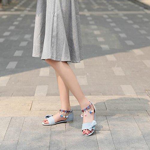 XINRD - zapatilla baja mujer azul claro