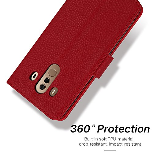 Amazon com: IDOOLS Huawei Mate 10 Pro Case,Leather Wallet