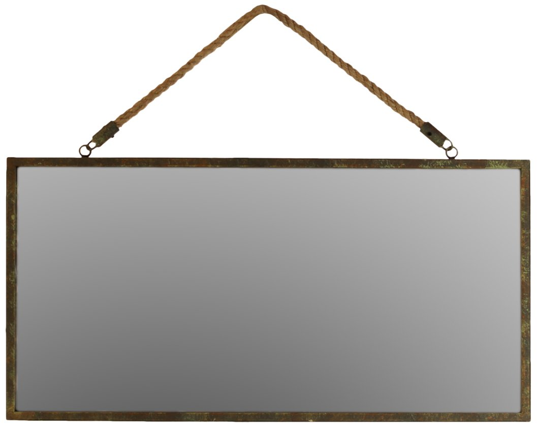 Urban Trends Metal Rectangular Wall Mirror with Rope Hanger Tarnished Finish Bronze - A masterful work of art suitable for both aesthetic and functional purposes Great piece of essential accessory to enhance the beauty of your home Manufactured in China - bathroom-mirrors, bathroom-accessories, bathroom - 51ZxDhDtQWL -