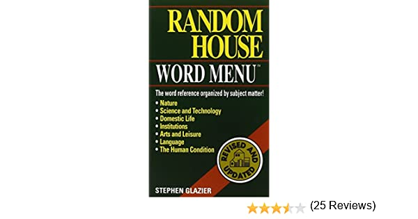 Amazon.com: Random House Webster's Word Menu (9780345414410 ...