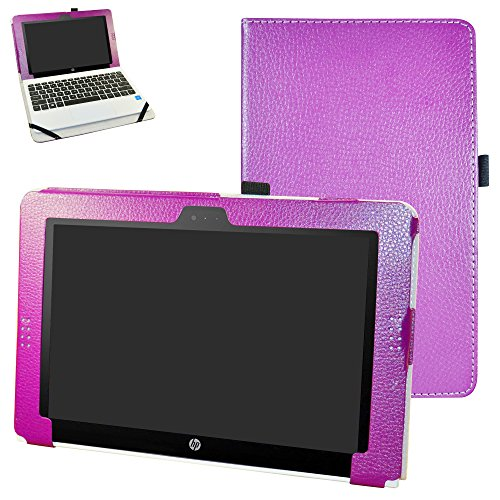 HP x2 210 G1 Case,Mama Mouth PU Leather Folio Stand Cover for 10.1