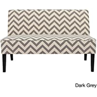 Dejon Chevron Fabric Loveseat by Christopher Knight Home,Dark Chevron
