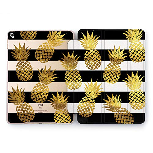 Wonder Wild Pineapple Fall Watercolor Case iPad Mini 1 2 3 4 Air 2 Pro 10.5 12.9 Tablet 2018 2017 9.7 inch Juicy Design 5th 6th Generation Plastic Cover Fruits Print Slices Clear Plant Pattern New -