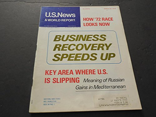 - US News World Report Mar 20 1972,Business Recovery Speeds Up