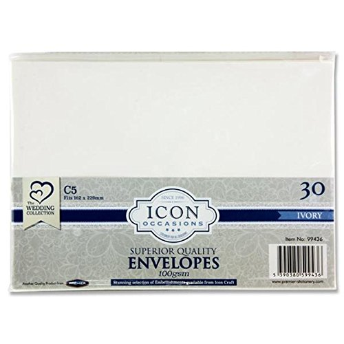 (Premier Stationery G3899436 C5 Icon Envelope - Ivory (Pack of 30))